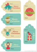 Christmas Gift Tags (1 page)