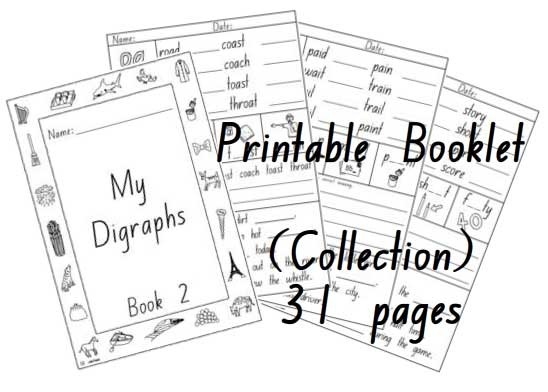 Digraphs and Vowel Combinations Activity Sheet Booklet 2