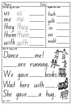 High Frequency Words Activity Sheet 2, English skills online ...