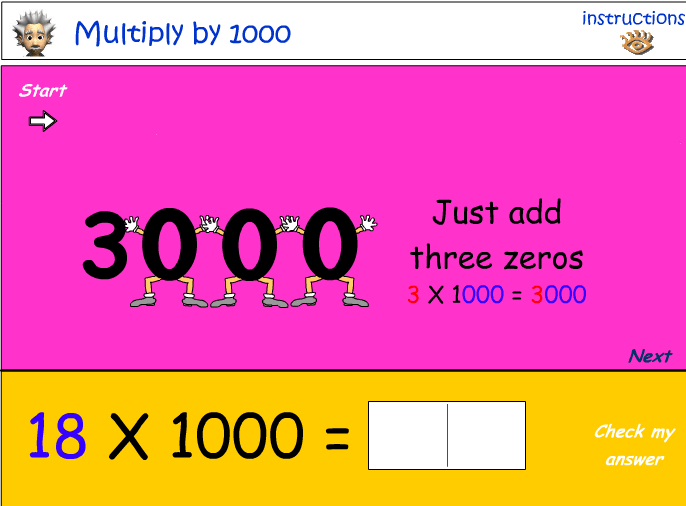 Multiplying by 1000
