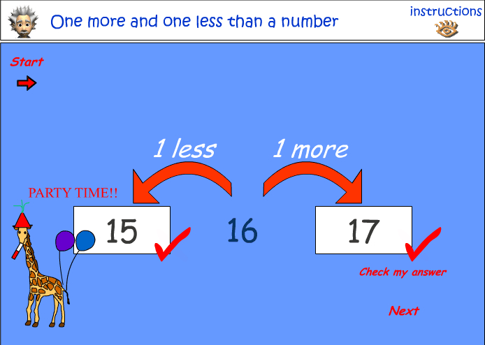 Image result for 1 more 1 less number line