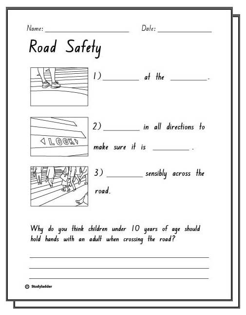 Printables Safety Worksheets For Kids safety worksheets for kindergarten teacher s corner information math worksheet road response activity sheets english skills online kindergarten
