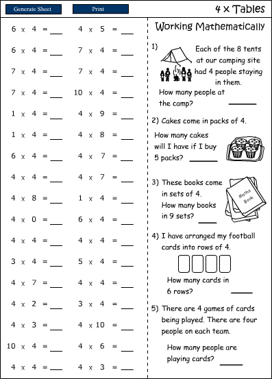 Number Names Worksheets : 7 times tables worksheets ~ Free ...