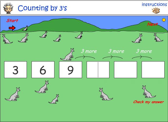 Jumping Kangaroos by 3