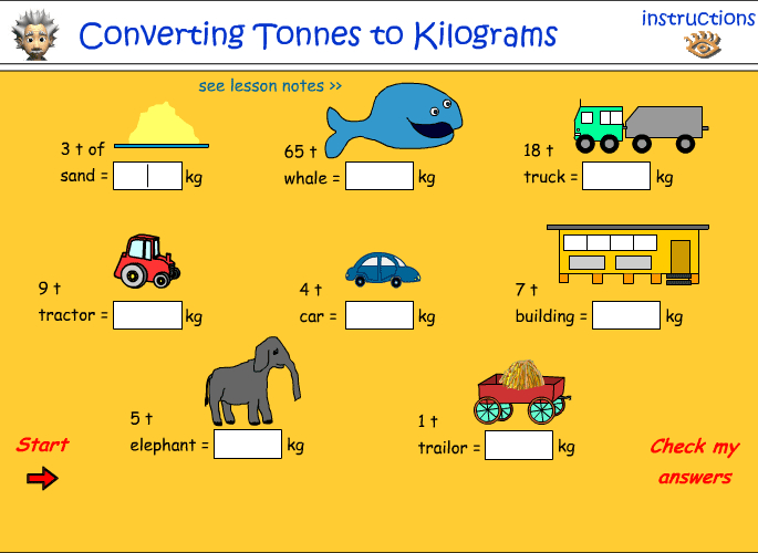 Convert tonnes to kilograms