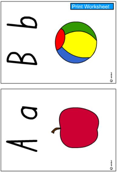 A-Z Alphabet Cards -Colour