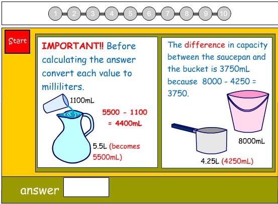 Comparing the Volume of Liquids No.2
