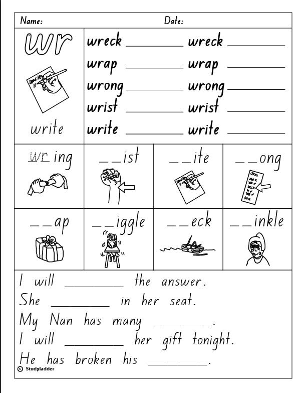 Consonant Digraph wr English skills online interactive – Consonant Digraphs Worksheets