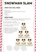 Snowman Slam (1 page)