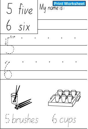 Number Names Worksheets handwriting numbers : Numbers 5,6 -Handwriting, English skills online, interactive ...