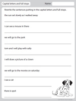 Capital Letter and Full Stops, English skills online, interactive ...