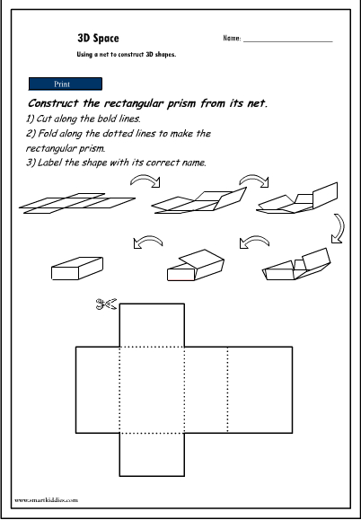 photograph about Rectangular Prism Net Printable identified as Creating 3D Items towards their nets - rectangular prism