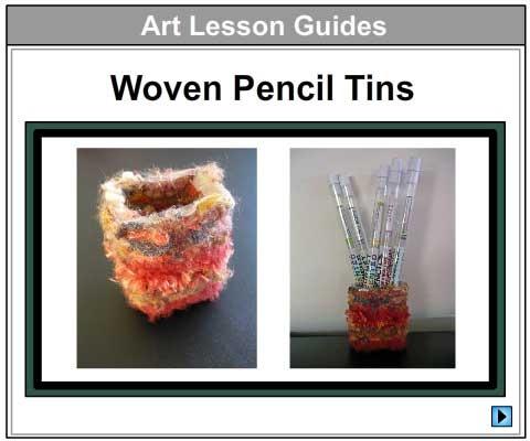 Woven Pencil Tins