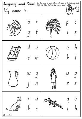 Number Names Worksheets : initial sounds ~ Free Printable ...
