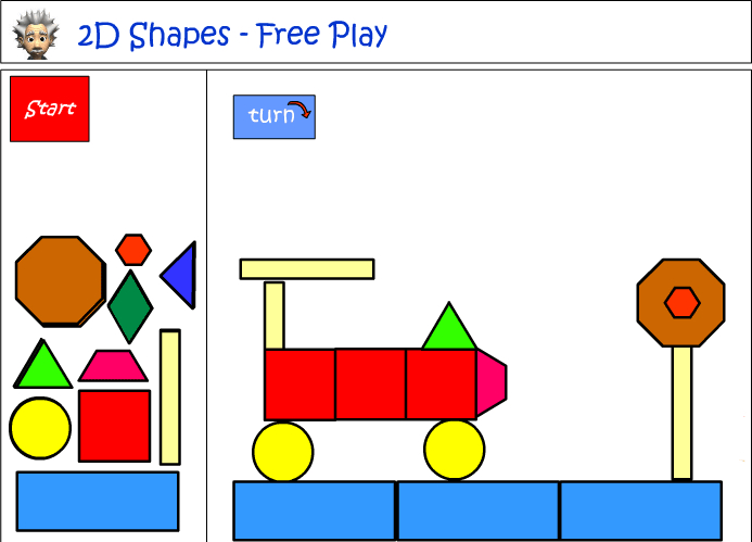 Using shapes to construct a picture