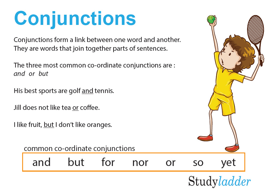 Conjunctions (co-ordinate and subordinate) - Studyladder