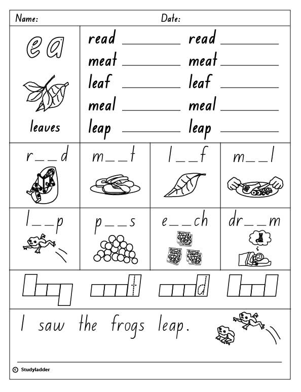 Worksheets Ea Words digraph ea english skills online interactive activity lessons