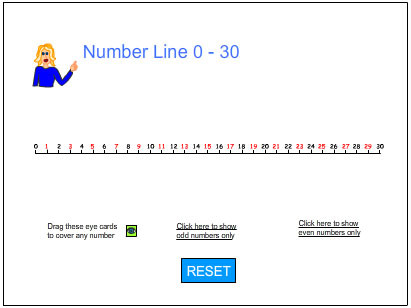 Simplicity image throughout printable number line 1-30