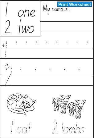 Number Names Worksheets handwriting numbers : Numbers 3,4 -Handwriting Sheet, English skills online, interactive ...