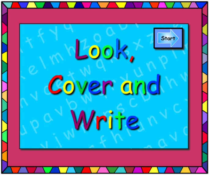 Words -Look Cover Write
