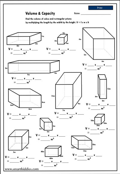 Worksheets Calculating Volume Worksheets calculating volume worksheet hypeelite the of rectangular prisms mathematics skills worksheets