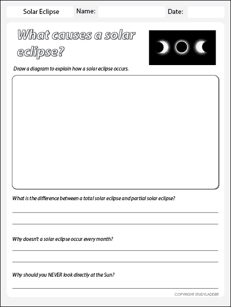 solar and lunar eclipse worksheet pdf
