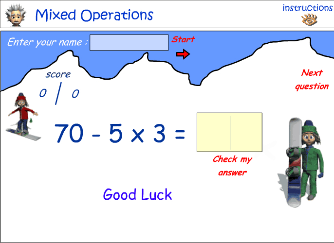 Mixed number operations - combination 5