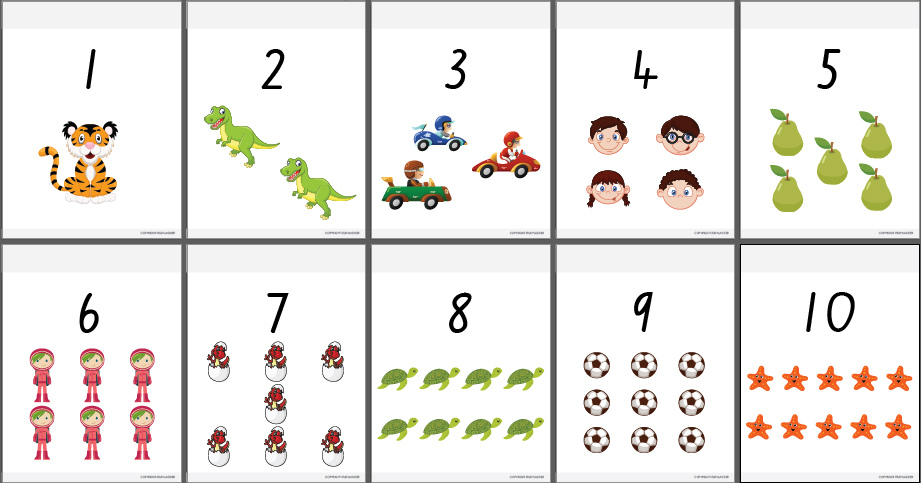Numbers 1 10 on Number Bingo 1 10 Printable