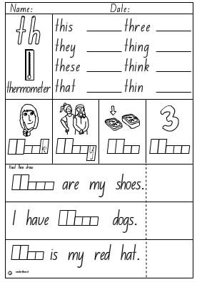 Activity Sheet- Digraph th - Studyladder Interactive Learning Games
