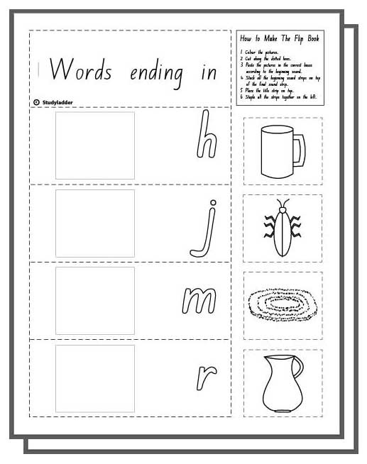 Learn English skills online interactive activity lessons – Ug Word Family Worksheets