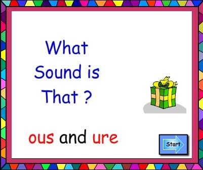 Suffixes ous and ure