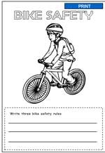 Bike Safety Coloring Pages Free Coloring Free Summer Safety ...