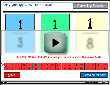 Recognizing equivalent fractions tutorial