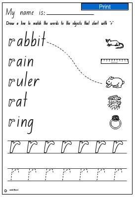 Matching Activity- initial sound r - Studyladder ...
