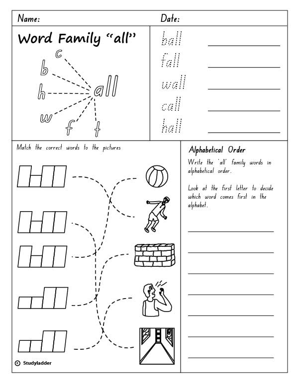 Common Worksheets » It Family Words Worksheets - Preschool and ...