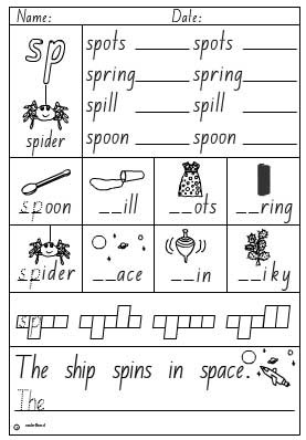 Adorable St Blend Worksheets First Grade with Blends and Digraphs ...