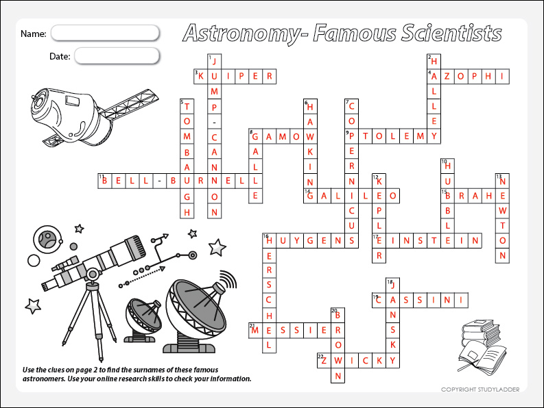 Famous astronomers crossword clues theme based learning skills famous astronomers crossword clues theme based learning skills online interactive activity lessons ccuart Image collections