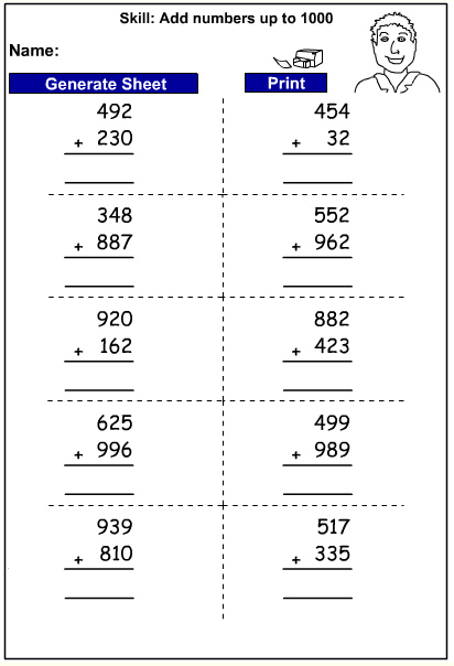 Drill - Add three digit numbers - written strategy (Auto-Generated)