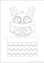 Decorate a Christmas Owl (1 page)