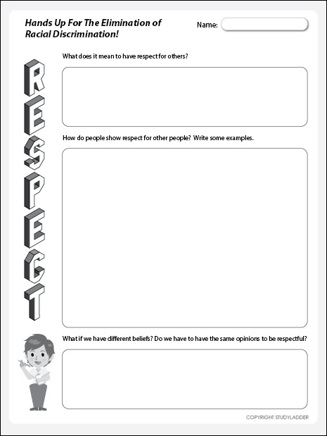 This is a graphic of Dashing Free Printable Respect Worksheets