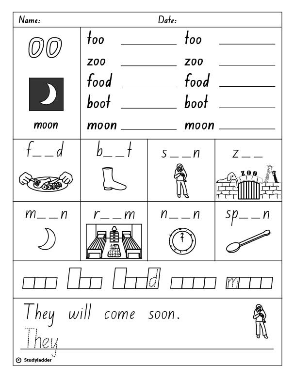 Vowel digraph quot oo quot as in moon english skills online interactive