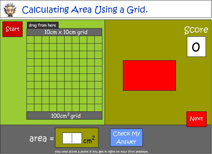 Measure area using a grid