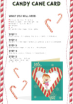 Candy Cane Card (1 page)