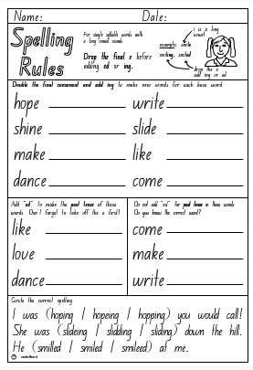 ... Drop e + ing or ed Activity Sheet (Drop e + ing or ed Activity Sheet