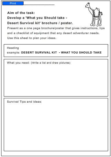Desert Survival Kit - Studyladder Interactive Learning Games