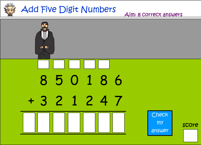 Addition of large numbers