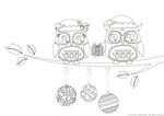 Christmas Owls (1 page)
