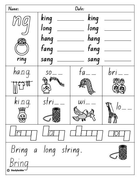 Final Consonant Digraph \