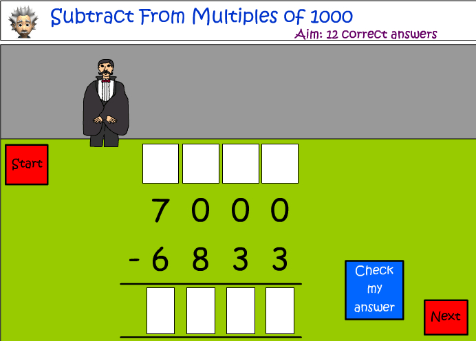 Subtracting from lots of 1000