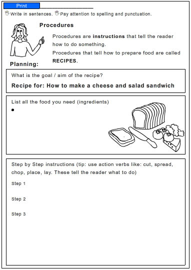 How to Make a Cheese and Salad Sandwich, English skills online ...